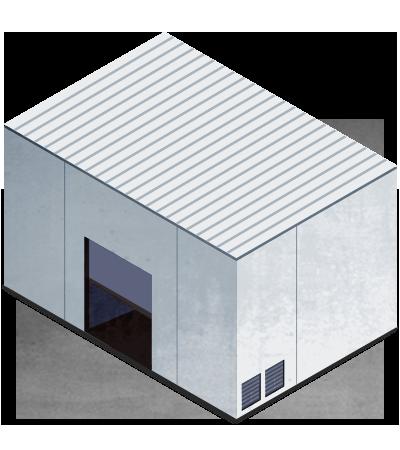 Cabina o recinto insonorizado con ventilación forzada