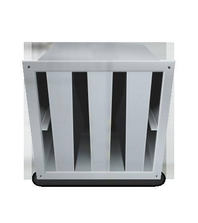 Silenciador rectangular de ventilación 35dB(A)
