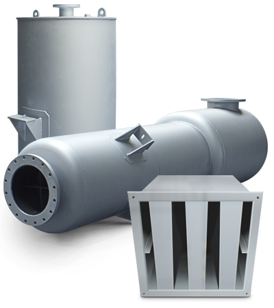 silenciadores de escape motor, ventilación y descarga de vapor