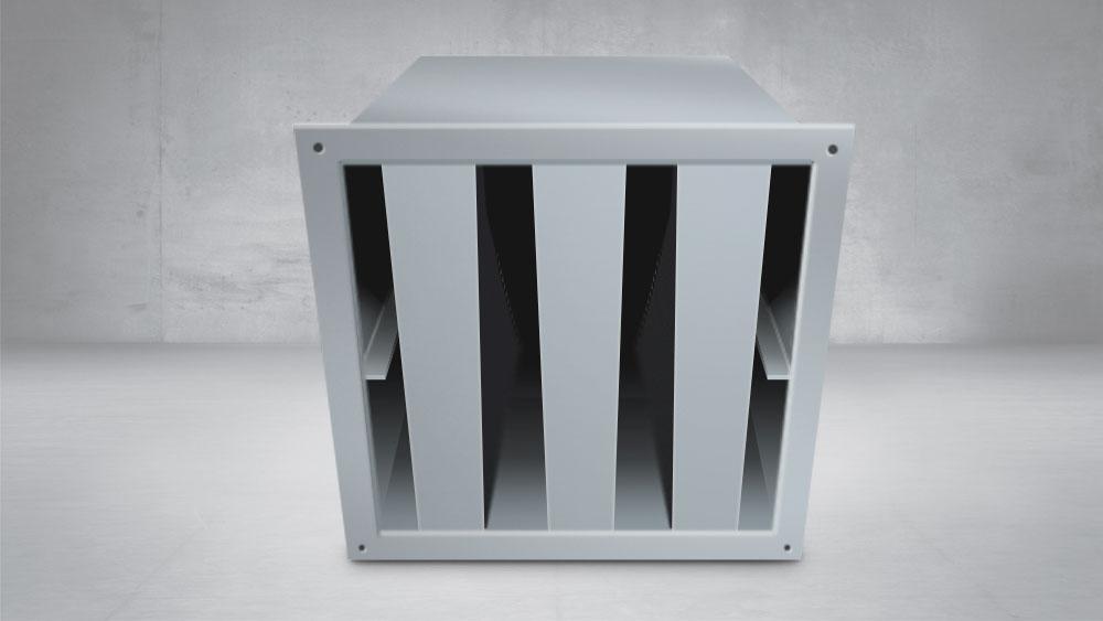 silenciador ventilación rectagular 35db(A)