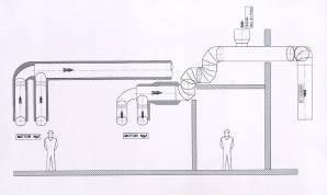 croqis de planta antes - Ingeniera acústica, silenciadores reactivos, antipulsatorios y resonadores