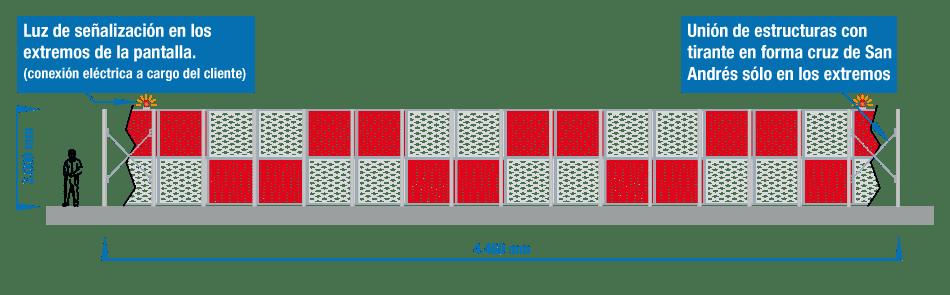 Representación de barrera deflectora y barrera deflectora de chorro para los aviones. Jet Blast deflector and jet blast damage. BARRERAS DEFLECTORAS DE CHORRO