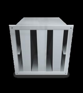 Silenciador Acústico Rectangular o silenciadores acústicos rectangulares tipo SVR, sirven para insonorización y aislamiento acústico de recintos, maquinas y cabinas acusticas