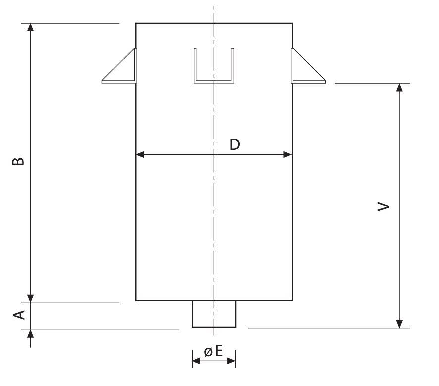 CROQUIS DEL SILENCIADOR ACUSTICO SP30. Silenciador acústico SP40-50