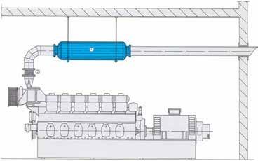 Dibujo de como se realiza la insercion de un silenciador acustico sm15 en una maquina que genera ruido