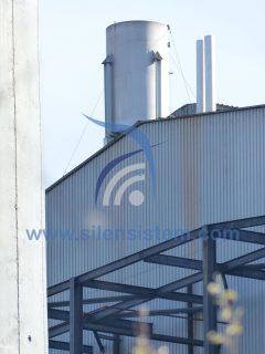 Silenciador Acústico industrial. Silenciador de descarga, vapor, alta presión. Silenciador para calderas y silenciador para motor