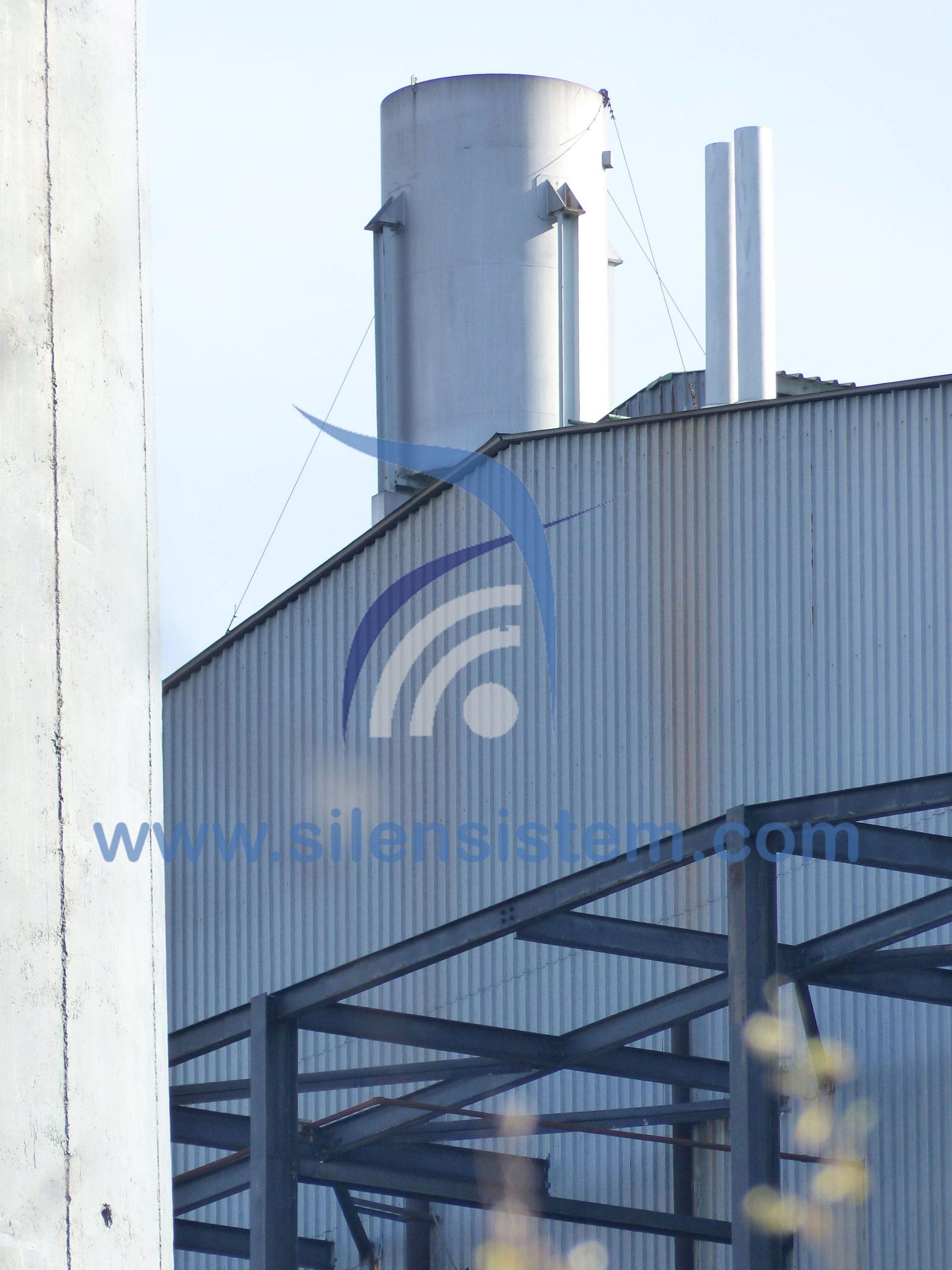 Silenciador Acústico industrial. Silenciador de descarga, vapor, alta presión.