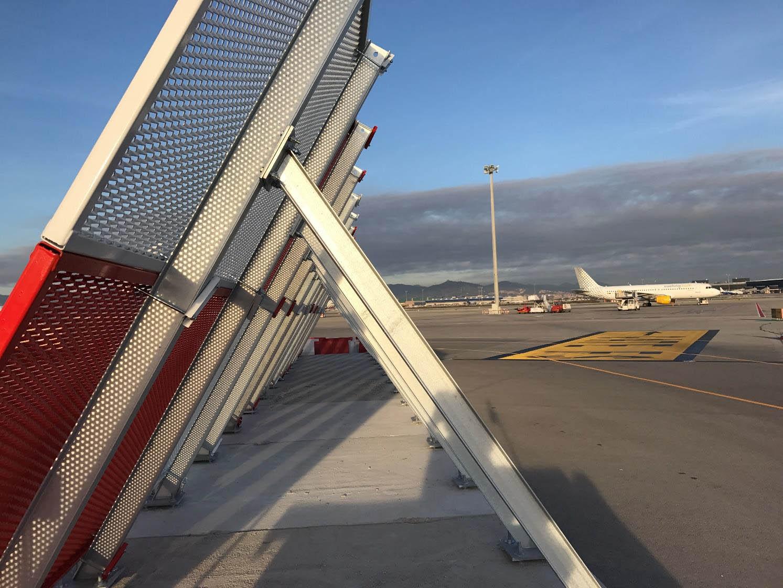 JET BLAST DEFLECTOR MESH JET BLAST AIRPORT